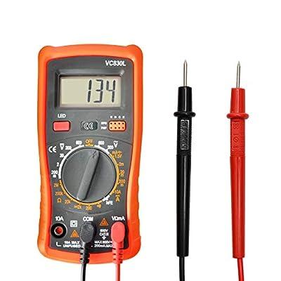 Digital Multimeter Pocket Multimeters Multi Tester Voltmeter Ammeter Ohmmeter AC/DC Ohm Volt Amp and Diode Voltage Tester Meter with Backlight LCD