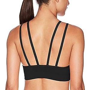 PUMA Women's Women's Split Strap Seamless Sports Bra Bra, Black, S