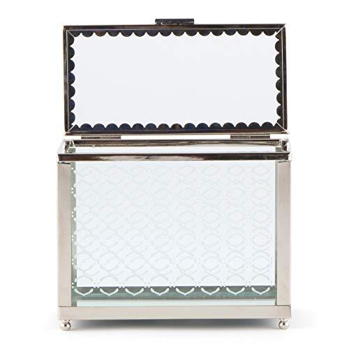 Decorative Glass Box with Mirror Base
