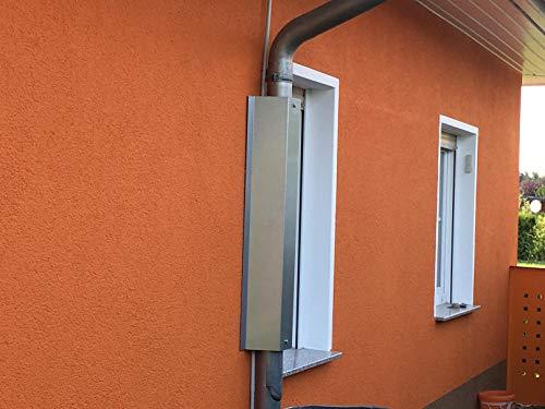 Metalltechnik Dermbach GmbH Waschbärschutz, Waschbärabwehr für Fallrohre mit Ø 100mm und Rohrabstand 2,5 bis 4 cm zur Hauswand - verzinkt