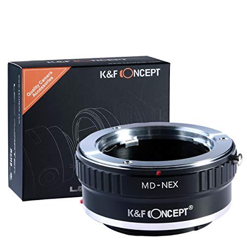 K&F Concept Minolta MD MC Adapter Sony ∙ Kompatibel mit Sony E-Mount Kamera (NEX/Alpha) ∙ Objektivadapter für Minolta MD/MC Objektiv