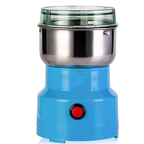 YQK Mini Electric Nahrungsmittelzerhacker Prozessor, elektrische Spice/Getreidemühle, 10 Sekunden Schnelle Pulver 800W, 22000 RPM Bi-Level-Blades, für Babynahrung/Fleisch/Gemüse