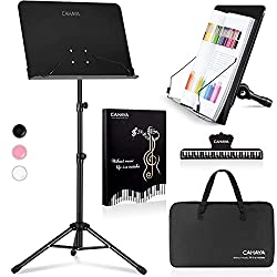 cheap CAHAYA 2 in 1 dual music stand and desktop book stand Metal portable, durable back …