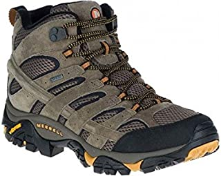 Merell Men s Moab 2 Leatther Mid GTX Outdoor Multisport Training Shoes, Walnut, 9.5 US