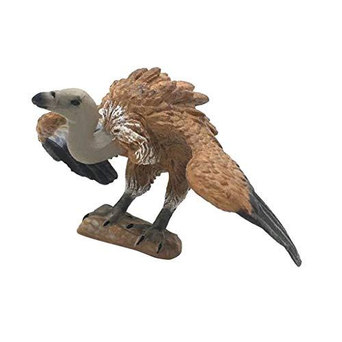 D DOLITY Figurine Statue Modèle Animaux Ornement Micro Paysage Pelouse Cadeau - Oiseau vautour