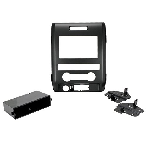 SCOSCHE FD1438B Single or Double DIN Car Stereo In-Dash Install Kit Compatible with 2009 to 2012 Ford F-150 Trucks