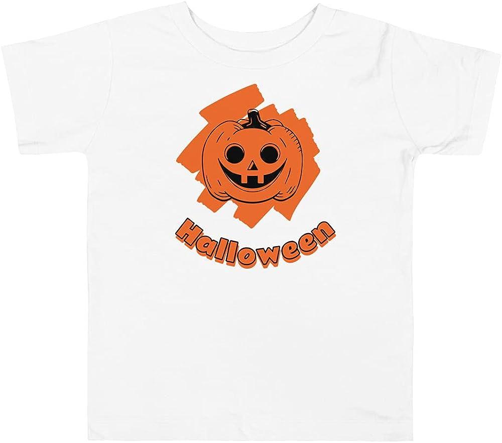 Happy Halloween T Shirt Children Kids Boys & Girls Pumpkin Fall Tee Shirts Toddler Short Sleeve Tee White