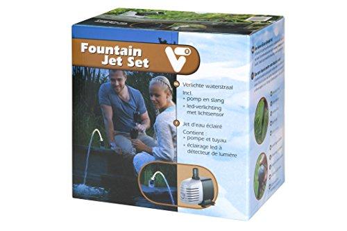VT 146180 Wasserstrahl-Set Teich, Mit Pumpe, LED-Beleuchtung und Lichtsensor, 12 W, Fountain Jet Set