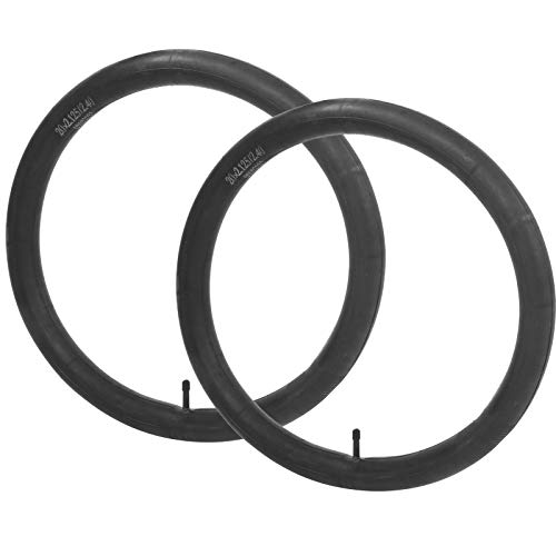 バイクチューブ、ブチルゴムによる怪我の防止ブラック2 PCS耐久性のあるサイクリングインナーチューブ、ロードバイク自転車用(20*2.125/2.4)