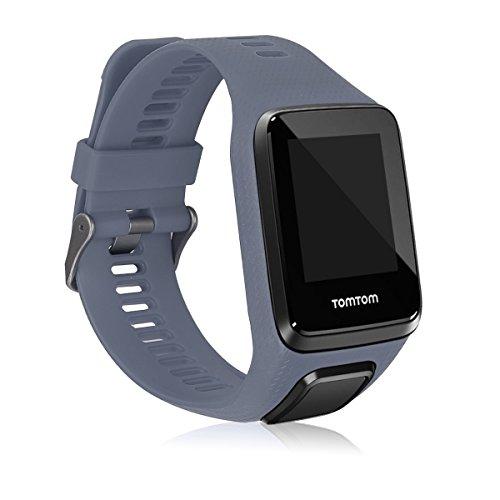 kwmobile Pulsera Compatible con Tomtom Adventurer/Runner 3/Spark 3/Golfer 2 - Correa para Reloj Inteligente Silicona TPU Gris