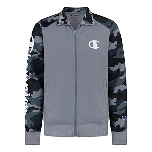 Champion Heritage Boys Full Zip Track Tacket Kids Clothes (X-Large, Camo Concrete)