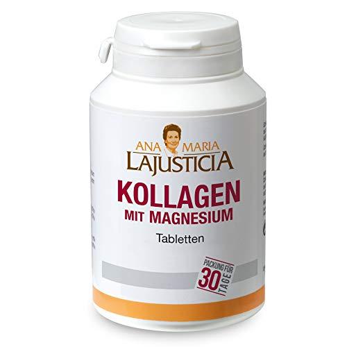 Ana Maria Lajusticia Kollagen mit Magnesium 180Tabletten Ohne Zusatzstoffe Gluten Frei Über 40 Jahre die absolute Nummer eins in Spanien über 400.000 Einheiten im Jahr verkauft.