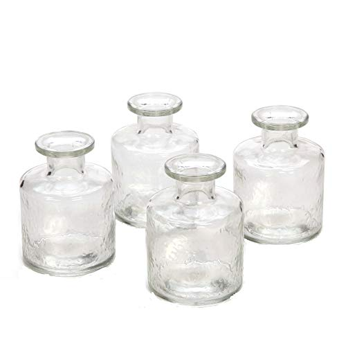 Hosley Set of 4 Glass Diffuser Bottles - 100 ml. Ideal Gift for Wedding, Party, Use with Essential Oils, Replacement Diffusers & Reed Sticks, DIY, Crafts, Spa O4