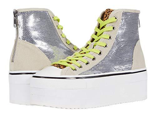 Steve Madden Stories Platform Sneaker Silver 9 M