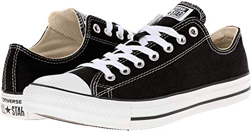Converse Unisex Chuck Taylor All Star Ox Low Top Classic Sneakers, Black/White, 9.5 Women/7.5 Men