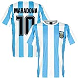 ALAN Homenaje a Diego Maradona # 10 Camiseta de fútbol Vintage de Argentina Camiseta Conmemorativa Camiseta Retro de la Copa Mundial de 1986 México Adios Dioses Mano Izquierda (Color : L)