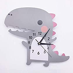 Easy Time Kids 3D Wall Clock - Dinosaur (Gray)