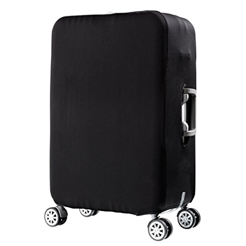 "Suitcase Cover, HIMI Luggage Protective Covers Travel Suitcase Protector with Elastic Clear Dustproof Spandex Fits 19 to 32 Inch Luggage Small(23-25"")-Black"