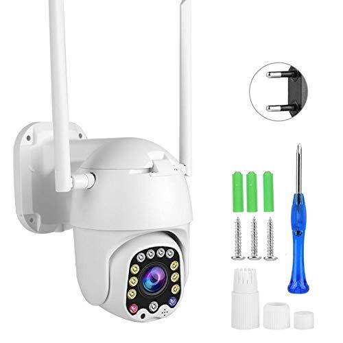 Tomanbery Cámara PTZ CCTV Impermeable con Fuente de luz Dual de Almacenamiento en la Nube 1080P HD con 12 LED para(European regulations)