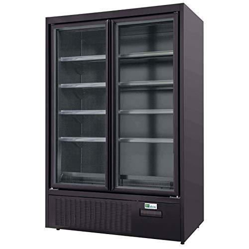 AFI Collin Lucy R290 - Armario refrigerado de pared, color negro mate – 2 a 3 puertas batientes – 3 puertas – 1310 mm – Cristal / batiente