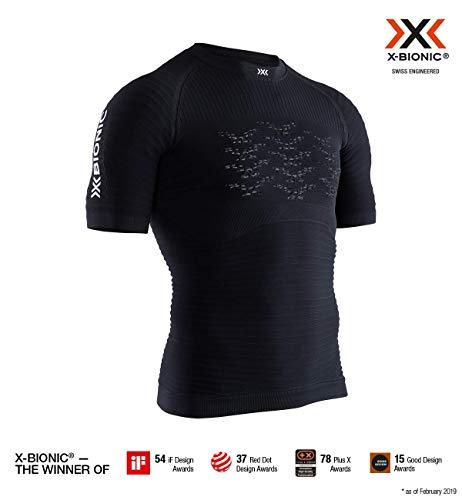 X-Bionic Effektor 4.0 Run Chemise Homme, Opal Black/Arctic White, FR : S (Taille Fabricant : S)