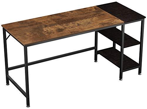 JOISCOPE Computer Desk,Office Desk,Laptop Table,Study Desk with Shelves,Industrial Desk Made of Wood and Metal,152 x 60 x 75 cm (Vintage Oak Finish)