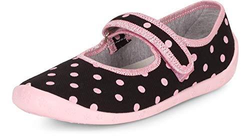 Ladeheid Zapatillas Zapatos Calzado Niña LARW007 (Rosa Negro Puntos, 27 EU)
