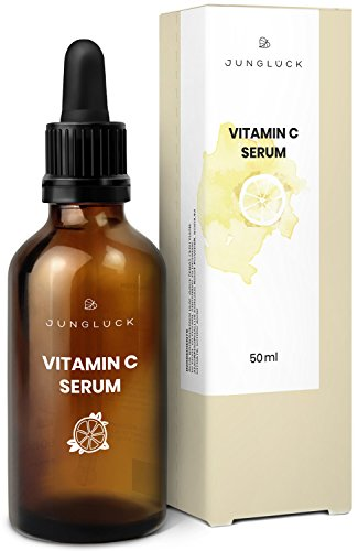 Vitamin C Serum auf bio Aloe Vera Basis - vegan & in Braunglas - Anti-Aging durch...