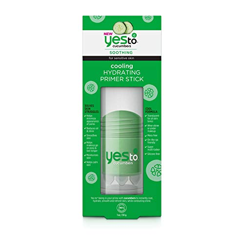 Yes To Cucumbers Cooling Hydrating Primer Stick - 1 Ounce   For Sensitive Skin   Cucumbers To Instantly Cool, Hytdrate, Smooth and Refresh Skin