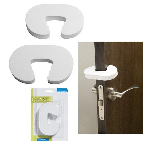 ORYX 5520010 Protector Anticierre Puertas/Ventanas (Blister 2 Piezas)