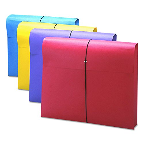 Smead Expanding File Wallet with Antimicrobial Product Protection,  Closure, 2' Expansion,  Closure, Letter Size, Assorted Colors, 4 per Pack (77291)