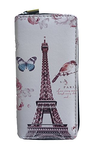 Novelty Wallet Whimsical Paris Eiffel Tower Print