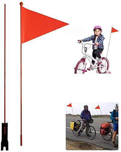 Fahrrad Sicherheitsfahne, Sicherheitsfahne Stange, Kinderfahrrad Sicherheit Dreieckige Flaggen Mit Montagehalterung Wimpel Für Jungen Mädchen Radfahren, Rot