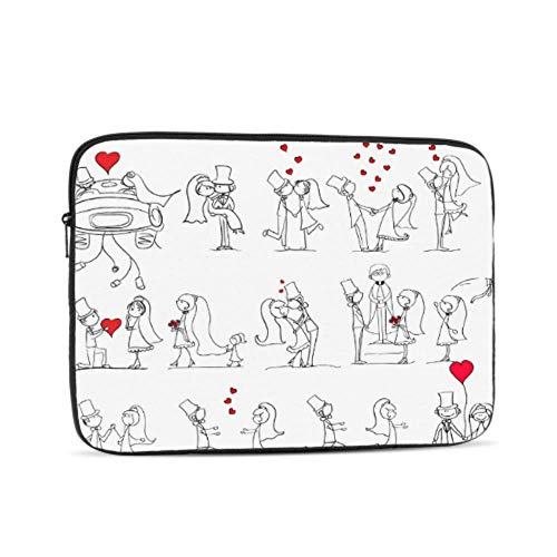 Laptop Sleeve Case 17 Inch Cartoon Wedding Pictures Laptop Sleeve/notebook Computer Pocket Case/tablet Briefcase Carrying Bag