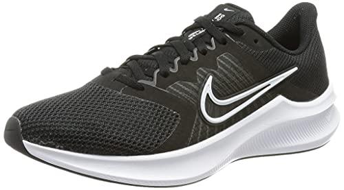 Nike Wmns Downshifter 11, Damen Laufschuhe, Schwarz / Weiß-Dk Smoke Grey, 39 EU