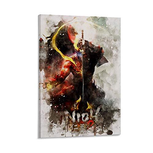 MMJH Nioh 2 Leinwand Kunst Poster und Wandkunst Bilddruck Moderne Familienzimmer Dekor Poster 24x36inch(60x90cm)