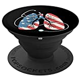 Respiratory Therapy - American Flag Patriotic PopSockets Grip and Stand for Phones and Tablets