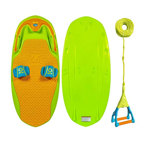 ZUP You Got This 2.0 Lime Board and Handle Combo, All-in-One Kneeboard, Wakeboard, Wakeskate, and Wakesurf Board for All Ages