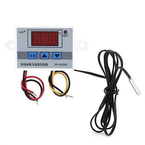 LANTRO JS - Interruptor de control del termostato del controlador de temperatura digital con sensor de sonda, sensor de termostato centígrado de enfriamiento de calefacción de 10 A(DC12V)