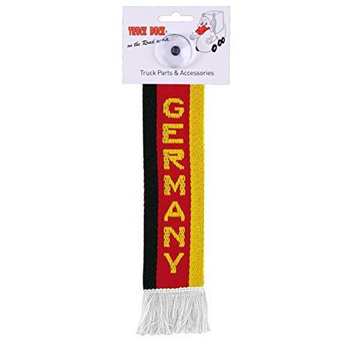 AutoScheich® LKW Auto Minischal Germany Deutschland Mini Schal Wimpel Flagge Saugnapf Spiegel Deko