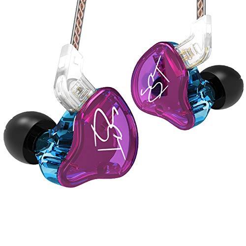 CIC Fone de ouvido com fio In Ear Kz Zst Retorno Monitor Palco Esportes Sem Mic Lacrado Entusiasta da música