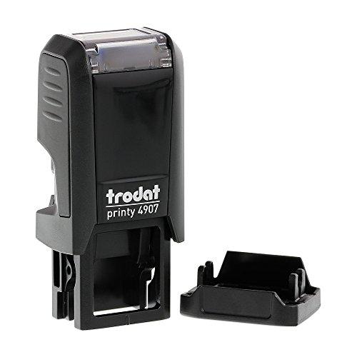 Stempel Trodat Printy 4907 custom (13x6 mm - 1 Zeile) mit individueller Textplatte Gehäusefarbe Schwarz