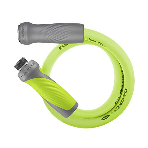 Flexzilla Garden Lead-in Hose with SwivelGrip, 5/8 in. x 5 ft., Heavy Duty, Lightweight, Drinking Water Safe - HFZG505YWS