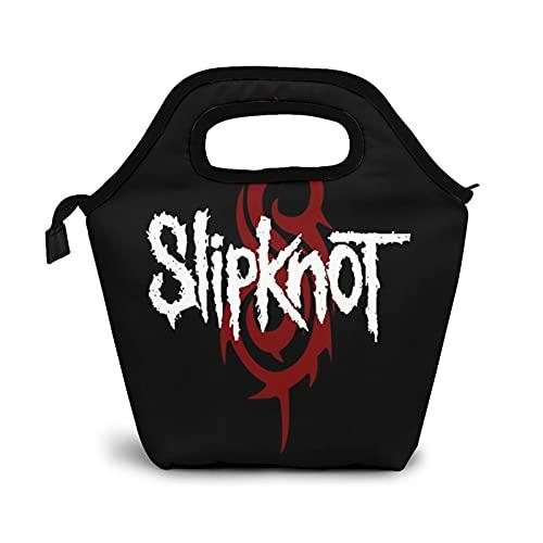 Slipknot - Bolsa de almuerzo aislada resistente al agua, a prueba de fugas, suave enfriador para adultos y niños