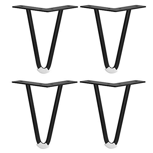 Furniture support foot Möbelbeine× 4, geneigte Stahlstützbeine, Sofabeine, Couchtisch, Fernseher, Nachttisch, Badezimmerschrankbeine