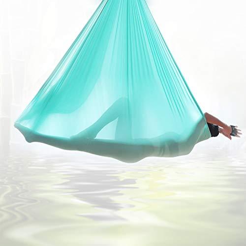 Grist CC Columpio De Yoga, Trapecio Plano para Pilates, con Columpio De Yoga Hamaca Aéreo Elástico Duradero De 2.8m para Niños O Adultos,Azul