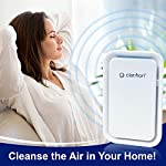 Clarifion - negative ion generator with highest output (1 pack) filterless mobile ionizer & travel air purifier, plug in… 15 for use in: bedrooms, corridors, bathrooms, living rooms, staircases, and other spaces/rooms. Removes bacteria & viruses | reduces allergens | relieves congestion | chemical free | helps reduce asthma | cleaner air eliminates dust, smog, smoke, allergens, pet dander, & bacteria to help keep air fresh & clean | smart design with led indication