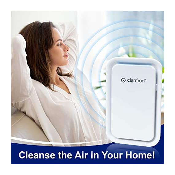 Clarifion - negative ion generator with highest output (1 pack) filterless mobile ionizer & travel air purifier, plug in… 7 for use in: bedrooms, corridors, bathrooms, living rooms, staircases, and other spaces/rooms. Removes bacteria & viruses | reduces allergens | relieves congestion | chemical free | helps reduce asthma | cleaner air eliminates dust, smog, smoke, allergens, pet dander, & bacteria to help keep air fresh & clean | smart design with led indication