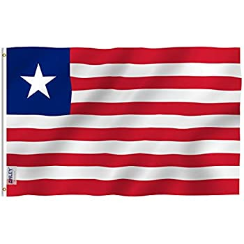 Anley Fly Breeze 3x5 Feet Liberia Flag - Vivid Color and Fade Proof - Canvas Header and Double Stitched - The Republic of Liberia Flags Polyester with Brass Grommets 3 X 5 Ft