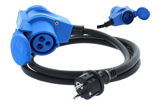 Adapterleitung 1,5m H07RN-F 3G2,5, CEE-Winkelkupplung+Steckdose 230V von KALLE DAS KABEL